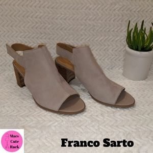 Franco Sarto Open-Toed Booties